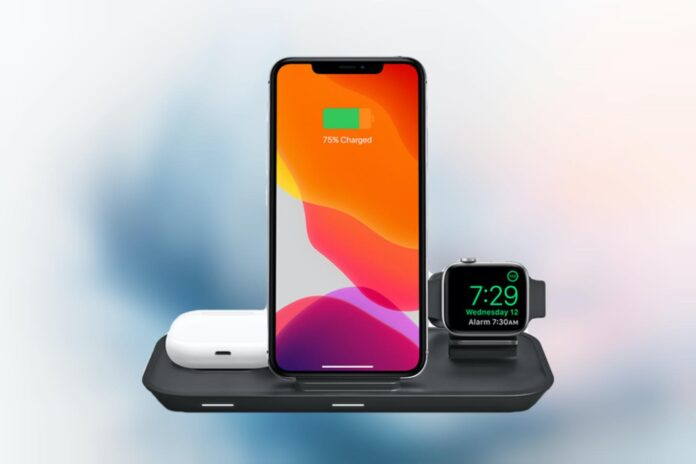 mophie - Universal 3 in 1 Wireless Charging Stand