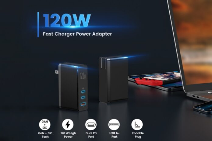 Baseus 120W 3-Port Wall Charger