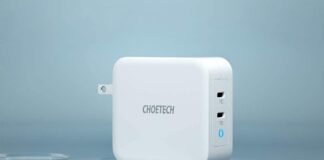 CHOETECH 100W 2-Port Type C Wall Charger