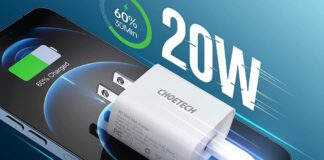 CHOETECH 20W iPhone Fast Charger