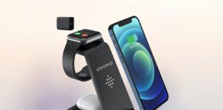 CIYOYO 3 in 1 Fast Wireless Charging Station Dock