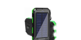 Durecopow 20000mAh Portable Outdoor Waterproof Solar Power Bank