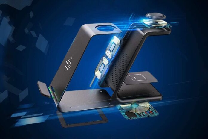 GEEKERA 3 in 1 Wireless Charger Fast Charging Dock