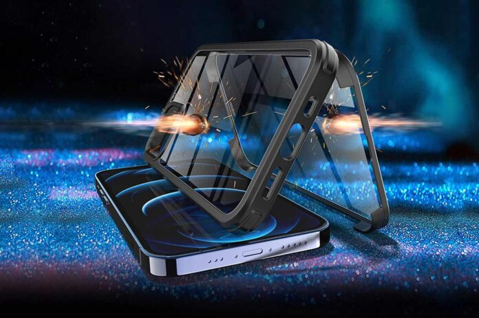 KKM Tempered Glass Case Designed for iPhone 12 Pro Max