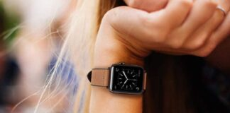 OUHENG Apple Watch Leather Band