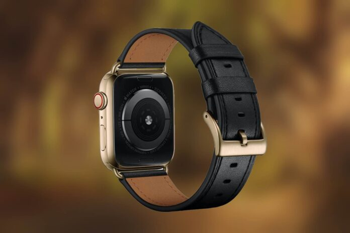 OUHENG Leather Apple Watch Band