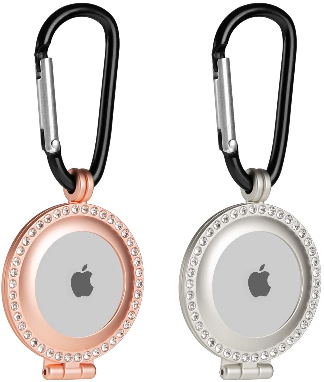 Orzero Alloy Metal Case for AirTag (2 Pack)