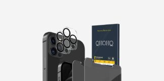 QHOHQ 2 Pack Privacy Screen Protector for iPhone 12 Pro