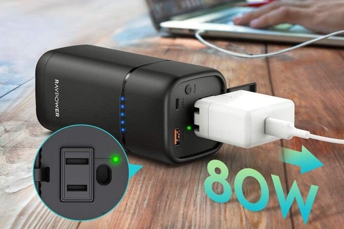RAVPower Power Bank with AC Outlet 80W