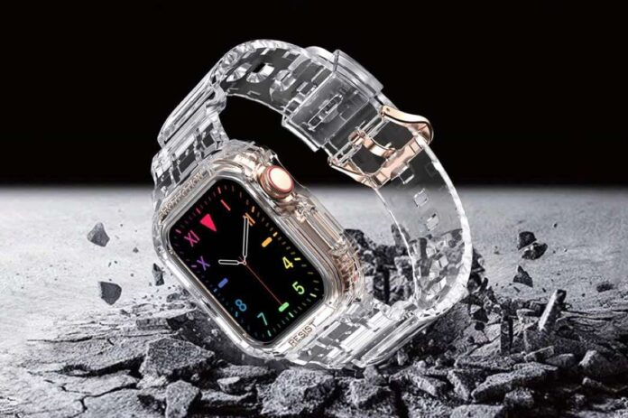amBand Crystal Clear Jelly Protective Case with Bands
