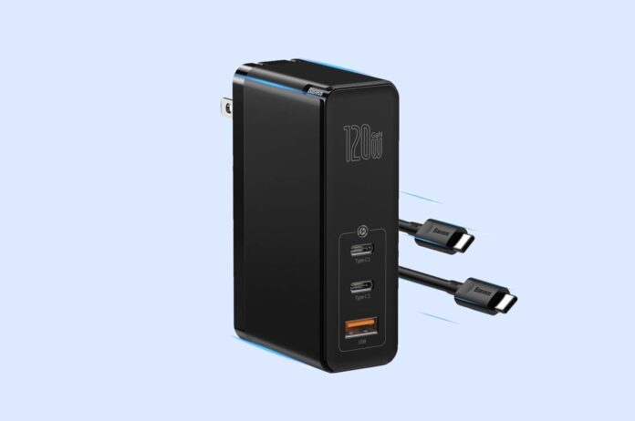Baseus 120W PPS QC PD 3.0 Fast Charging Foldable Adapter