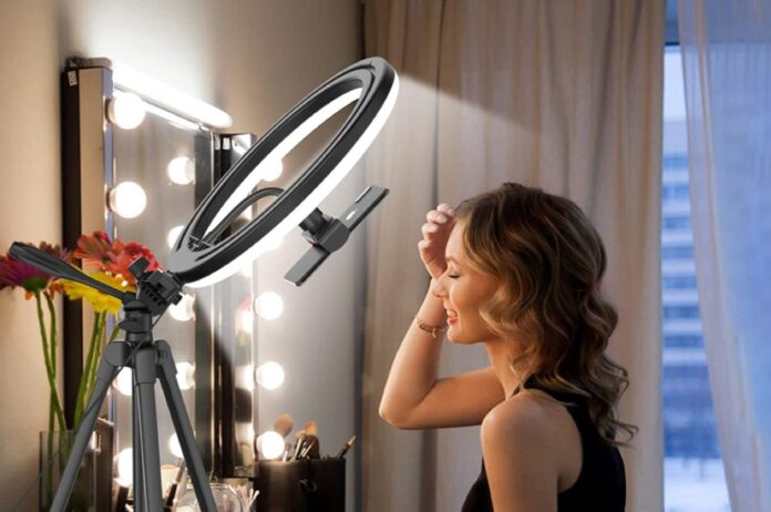 Erlighpowht 12.6 Selfie Ring Light with 54 Tripod Stand