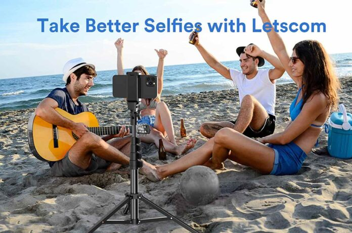 LETSCOM 65-inch Extendable Selfie Stick Tripod Stand