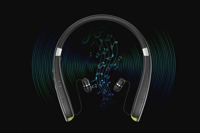 LOVOCOO [2021 Upgraded] Neckband Bluetooth Headphones