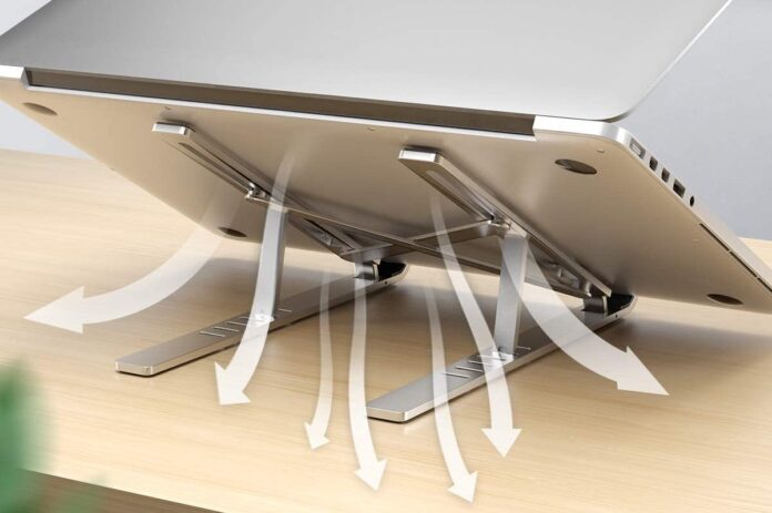 Licheers Adjustable Aluminum Notebook Stand with Magnet