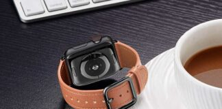 MNBVCXZ Leather Apple Watch Band