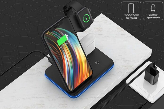 Saferell 3 in 1 Wireless Charger Stand