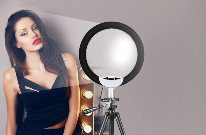 UBeesize 10 Selfie Ring Light with 50 Extendable Tripod Stand