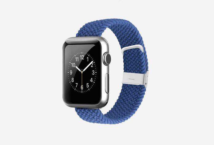 WZS Adjustable Extra Length Nylon Braided Solo Loop Watch Band