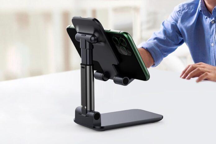 Yoozon [2021 Updated] Angle & Height Adjustable Desk Phone Holder