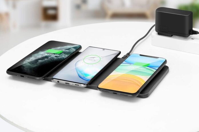 ZealSound Qi-Certified Ultra-Slim Triple Wireless Charger Station