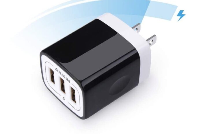 AILKIN 3.1A MultiPort Fast Charger Plug