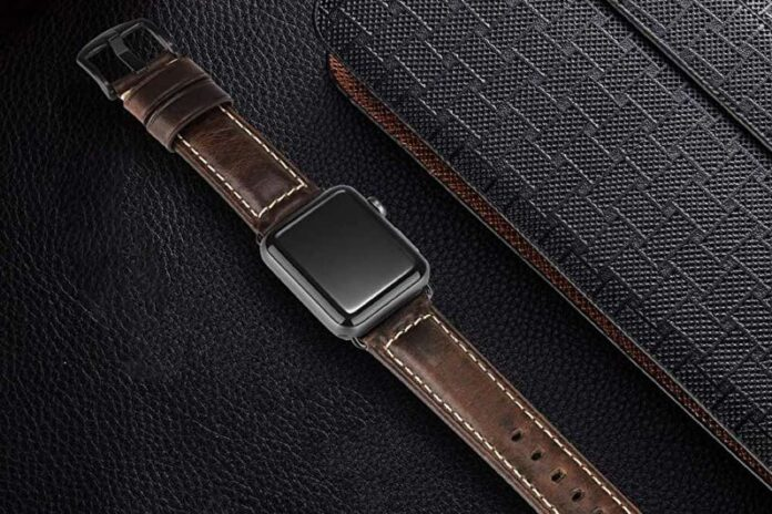HUAFIY Apple Watch Leather Band