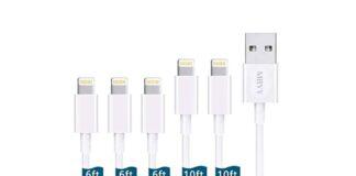 MBYY 5pack [6:6:6:10:10FT] Lightning Cable