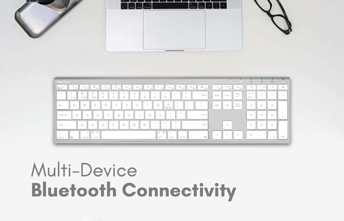 Macally Wireless Bluetooth Keyboard with Numeric Keypad