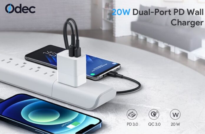 Odec 20W 2 Port PD Charger