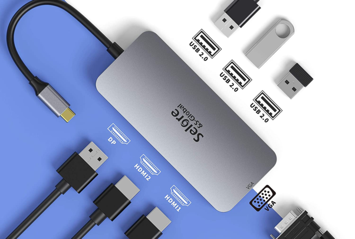 Selore&S 7 in 1 USB C Docking Station