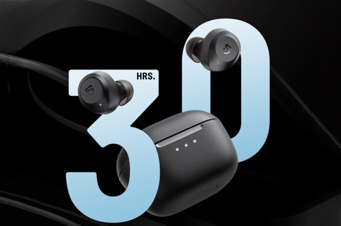 SoundPEATS T2 Hybrid Active Noise Cancelling Wireless Earbuds