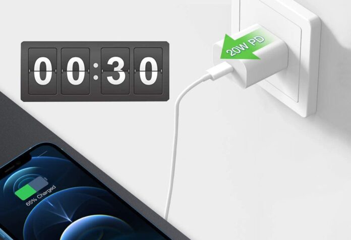 Stuffcool 20W USB C Power Delivery Wall Charger Plug with 6FT Type C to Lightning Cable