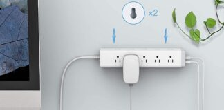 TESSAN Long Surge Protector 3 Sided with 15 Outlets and 3 USB Ports