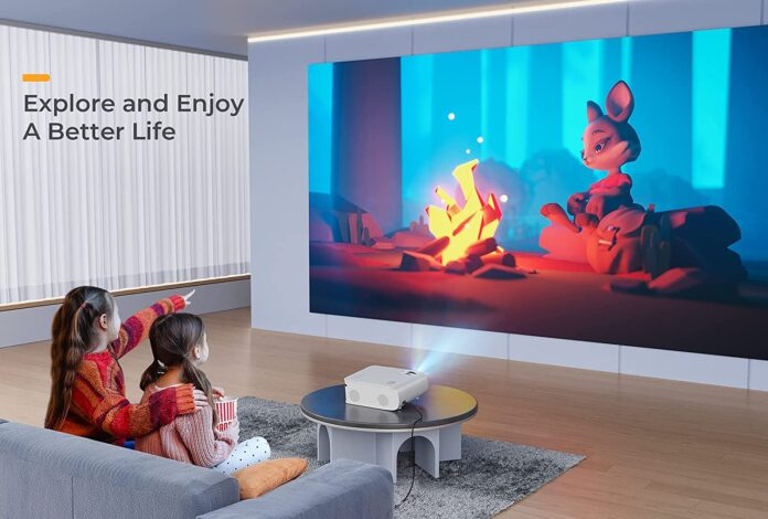 VIVIMAGE Explore 8W WiFi Movie 7000L Projector
