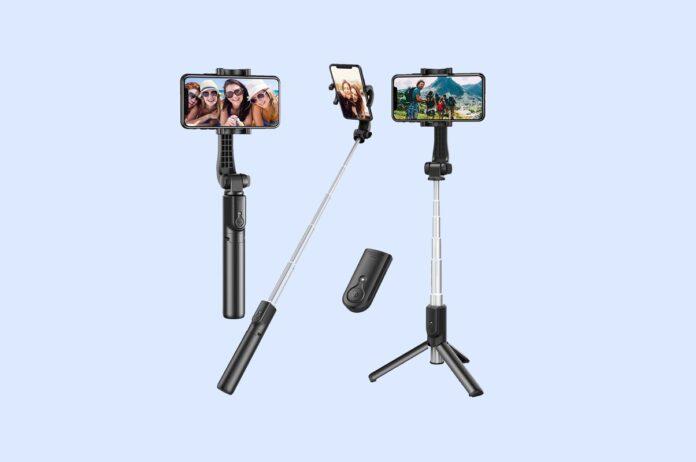 Erligpowht Extendable Selfie Stick Tripod with Detachable Wireless Remote
