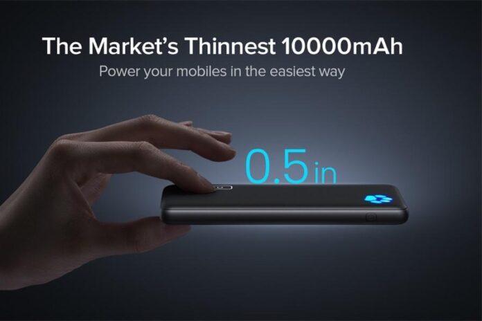 INIU USB C Slimmest & Lightest 10000mAh Power Bank