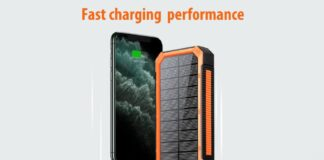 Soluser 30000mAh PD 18W QC 3.0 Quick Charge Power Bank with 4 Outputs