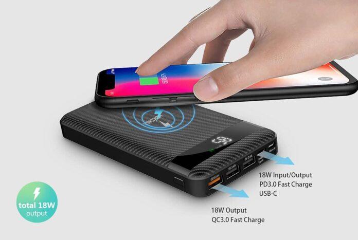 WARMQ 10W Qi Fast Charge 20000 mAh Power Bank