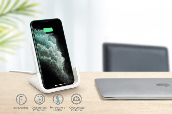 YUWISS Wireless Charging Stand Cordless Charger
