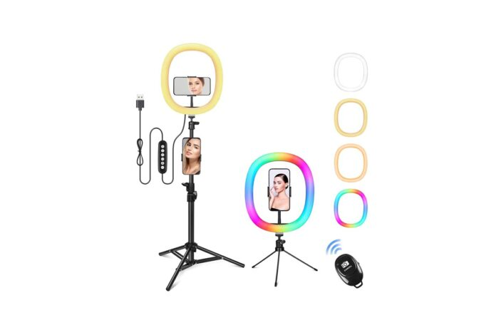 Zacro 12 RGB Selfie Ring Light with Tripod Stand