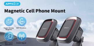APPS2Car Sturdy Stick-on Cell Phone Holder