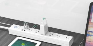 AUOPLUS Surge Protector Power Strip with USB Ports
