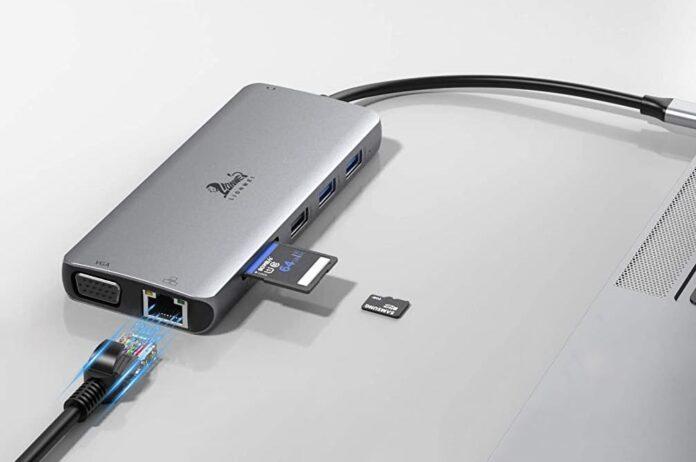 LIONWEI 12-in-1 Triple Display USB C Adapter