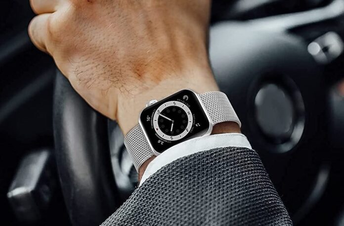 OUHENG Stainless Steel Apple Watch Band
