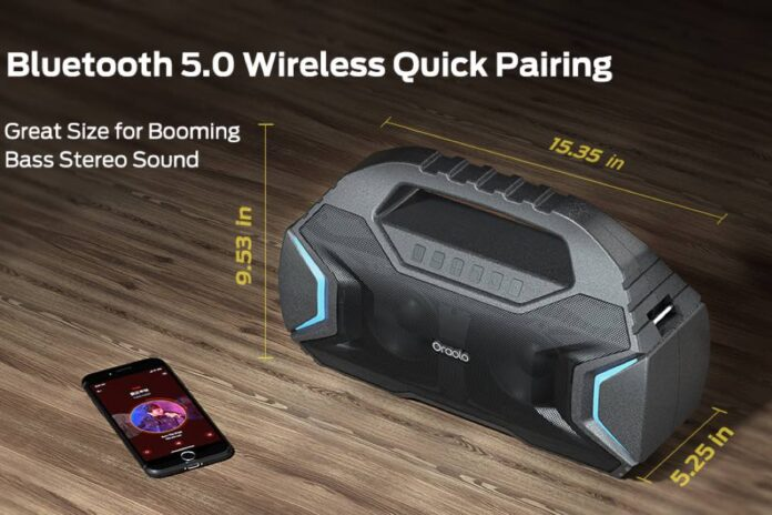 Oraolo M100 Portable Bluetooth Speaker