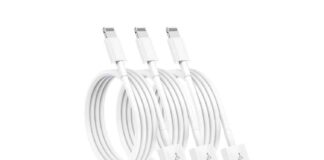 Susnwere 3 Pack Apple MFi Certified iPhone Charger