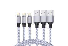 TAKAGI Lightning Cable 3PACK 6FT Nylon Braided