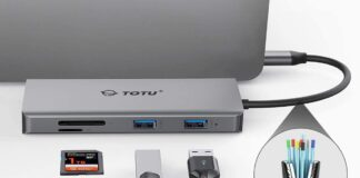 TOTU 11-in-1 Adapter with Ethernet