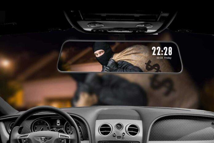 """WOLFBOX 12"""" Mirror Dash Cam"""